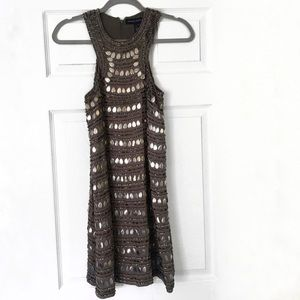 French Connection | Metallic sliver sequin dress